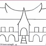 Gambar Sketsa Rumah Adat Padang
