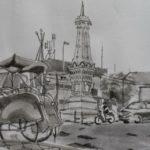 Gambar Sketsa Tugu Kota Malang
