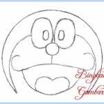 Gambar Sketsa Wajah Doraemon