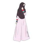Gambar Sketsa Wanita Muslimah Bercadar