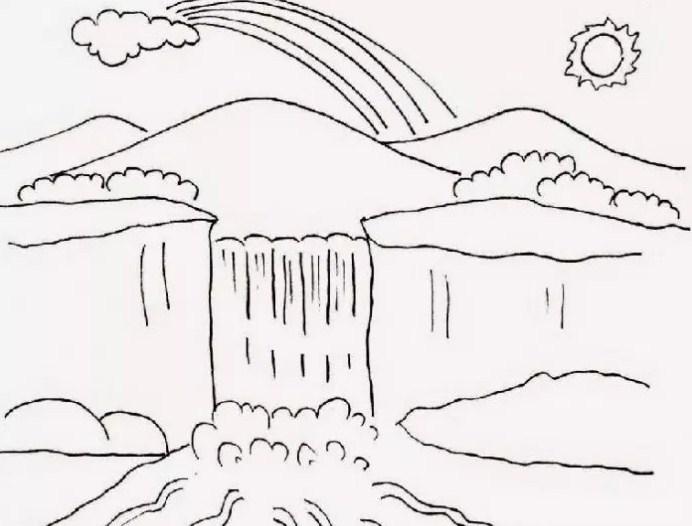 Berikut Gambar Sketsa Air Terjun Yang Mudah Sketsa Air Terjun Yang Mudah