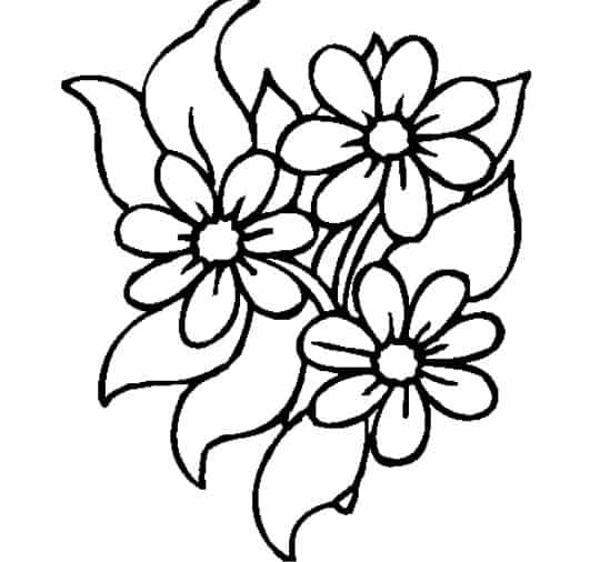 Sketsa Batik Bunga Melati