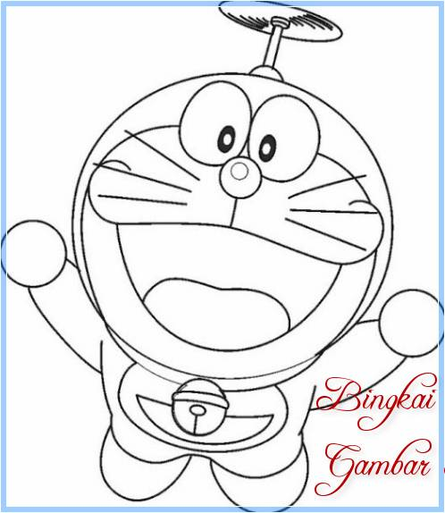 Sketsa Boneka Doraemon