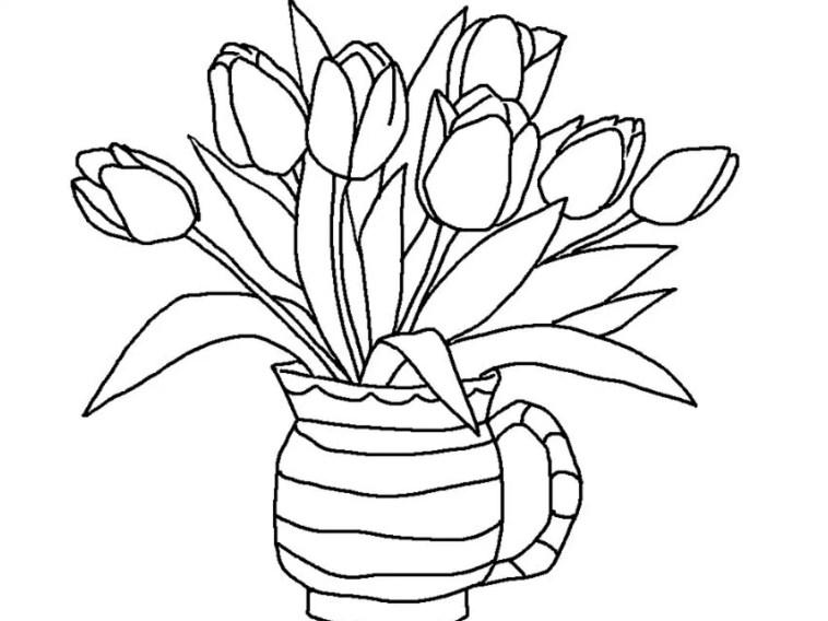 Sketsa Bunga Anggrek Hitam Putih