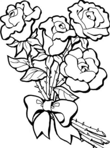 Sketsa Bunga Mawar Dan Melati