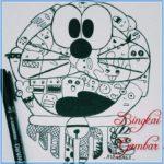 Sketsa Doodle Doraemon