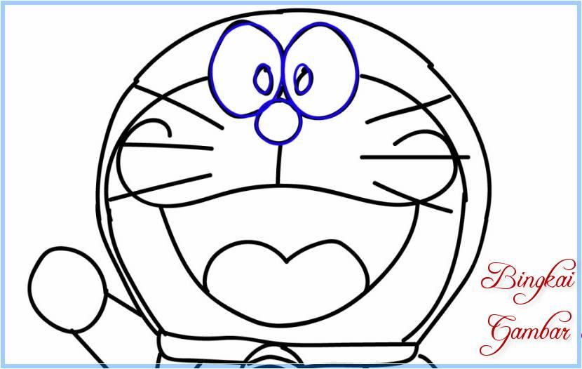 Sketsa Doraemon Kepala