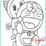 Sketsa Doraemon Romantis