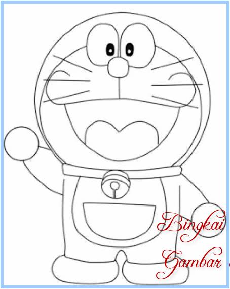 Sketsa Doraemon Simple