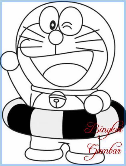 Sketsa Doraemon Termudah