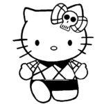 Sketsa Gambar Boneka Hello Kitty