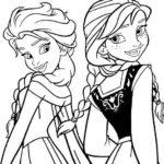 Sketsa Gambar Frozen Untuk Mewarnai