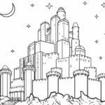 Sketsa Gambar Istana Frozen