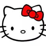 Sketsa Gambar Kepala Hello Kitty