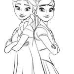 Sketsa Gambar Mewarnai Frozen