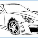 Sketsa Gambar Mobil Balap