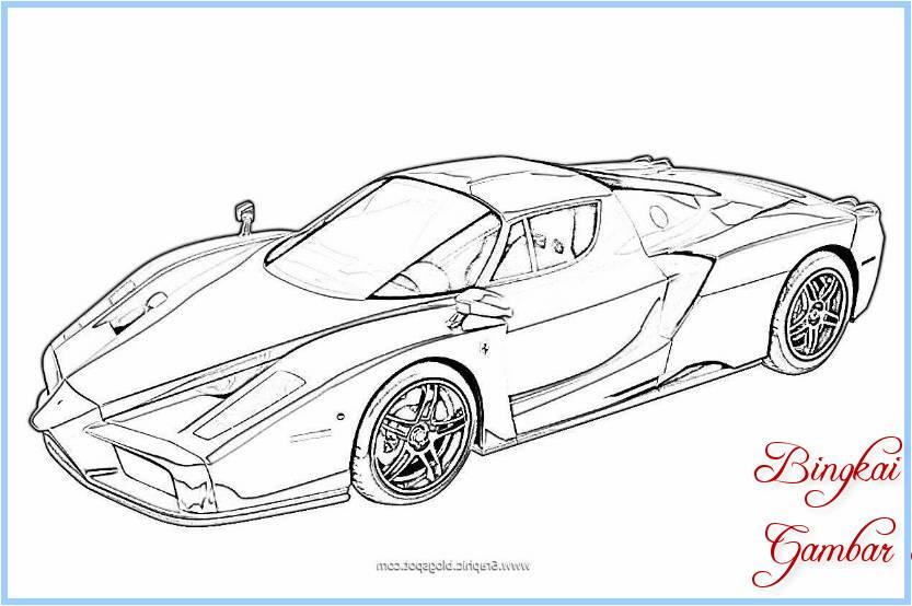 Sketsa Gambar Mobil Ferrari