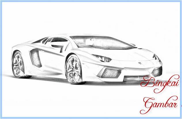 Sketsa Gambar Mobil Sport