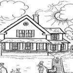Sketsa Gambar Pemandangan Rumah