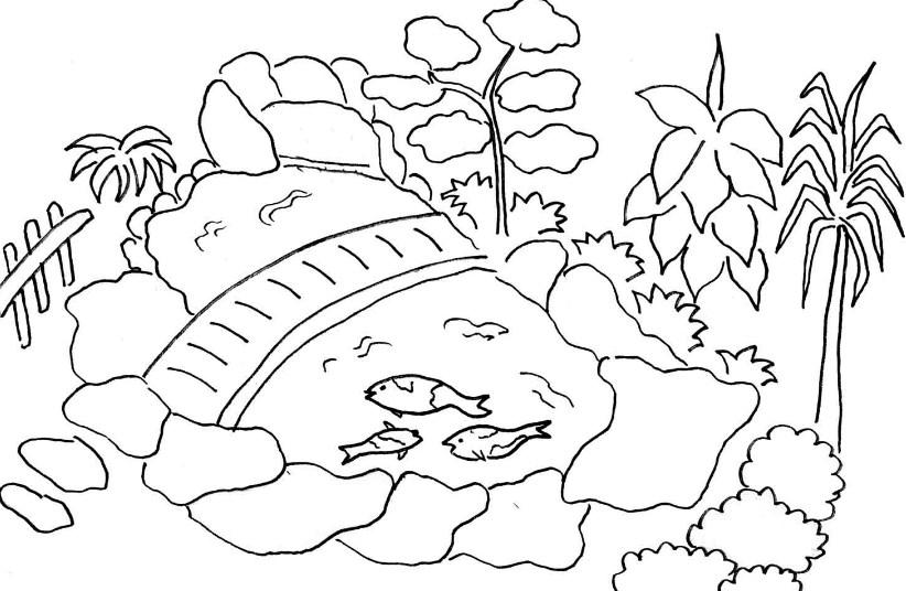 Sketsa Gambar Pemandangan Tanpa Gunung