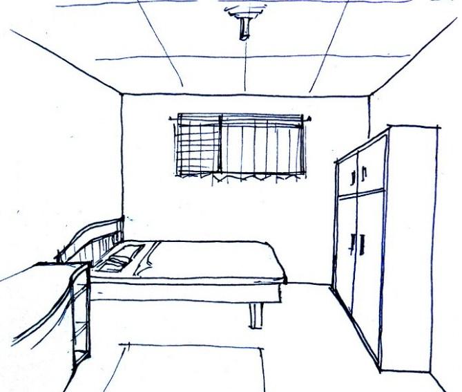 Sketsa Gambar Ruangan Sederhana