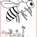 Sketsa Hewan Lebah Terbaru