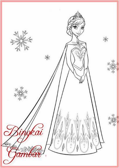 Sketsa Kartun Elsa Frozen
