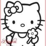 Sketsa Kartun Hello Kitty