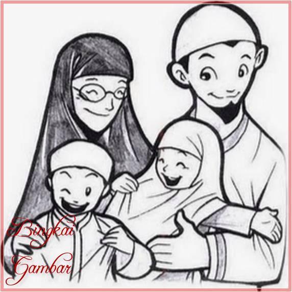 Sketsa Kartun Keluarga