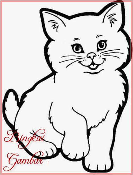 Sketsa Kartun Kucing