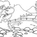 Sketsa Menggambar Pemandangan Laut