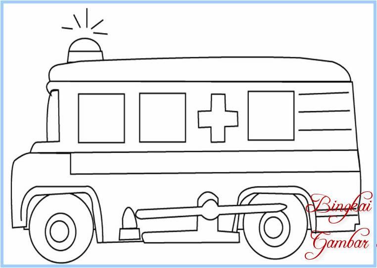 Sketsa Mobil Ambulan