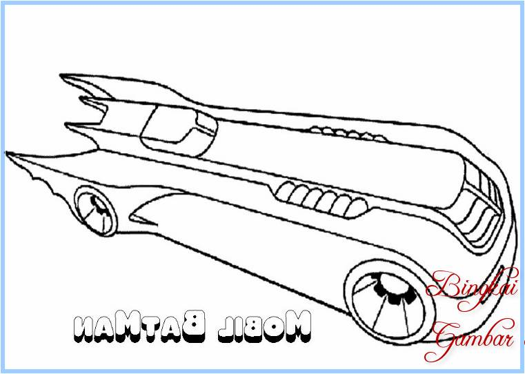 Sketsa Mobil Batman
