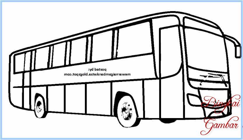 Sketsa Mobil Bus