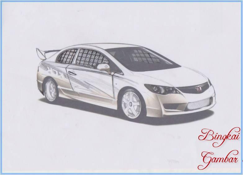 Sketsa Mobil Civic