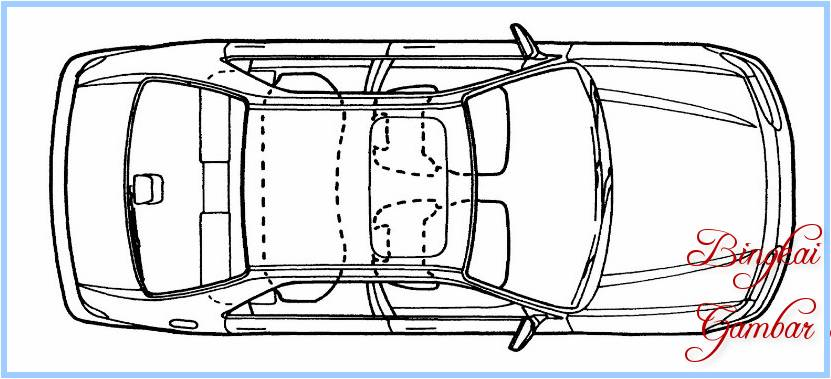 Sketsa Mobil Dari Atas