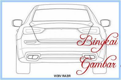 Sketsa Mobil Dari Belakang