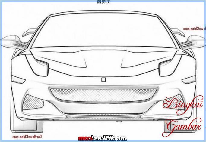 Sketsa Mobil Dari Depan