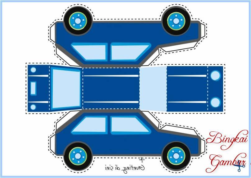 Sketsa Mobil Dari Kertas