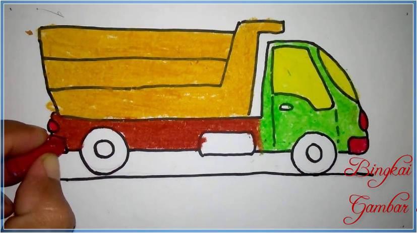 Sketsa Mobil Kertas