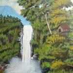 Sketsa Pemandangan Alam Dengan Cat Air