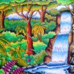 Sketsa Pemandangan Alam Dengan Crayon