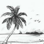 Sketsa Pemandangan Alam Sederhana