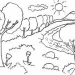 Sketsa Pemandangan Alam Yang Mudah Di Gambar