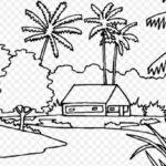 Sketsa Pemandangan Desa Yang Mudah Ditiru