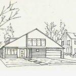 Sketsa Pemandangan Halaman Rumah