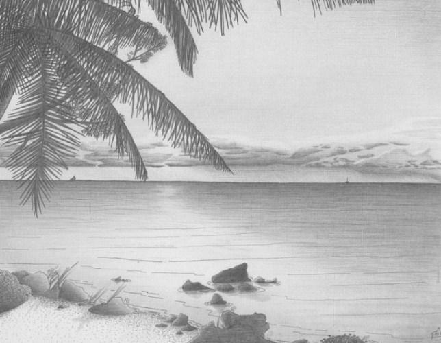 80+ Gambar Pemandangan Arsiran Hitam Putih Paling Hist