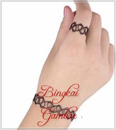 gambar henna cincin
