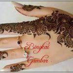 gambar henna di tangan ala india