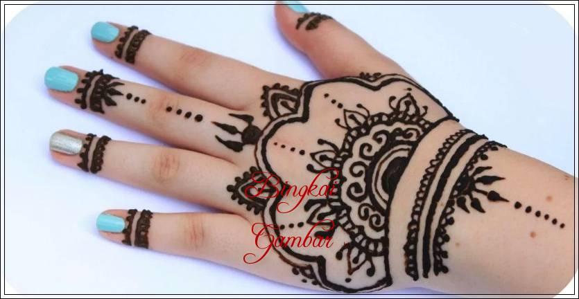 gambar henna india cantik